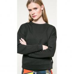 Reebok - Bluza. Szare bluzy damskie marki Reebok, l, z dzianiny, z okrągłym kołnierzem. W wyprzedaży za 129,90 zł.