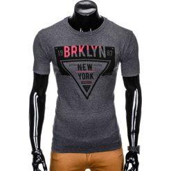 T-shirty męskie z nadrukiem: T-SHIRT MĘSKI Z NADRUKIEM S939 – GRAFITOWY