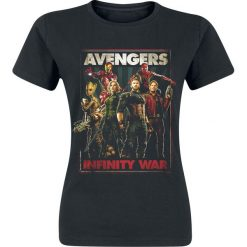 Bluzki asymetryczne: Avengers Infinity War Koszulka damska czarny