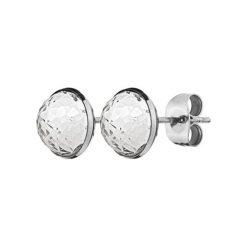 Kolczyki damskie: Kolczyki w kolorze srebrnym z kryształem Swarovski