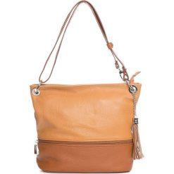 Torebki klasyczne damskie: Skórzana torebka w kolorze brązowym – 35 x 50 x 12 cm