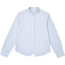 Koszula w paski 10-16 lat. Szare bluzki dziewczęce bawełniane La Redoute Collections, w paski, z klasycznym kołnierzykiem, z długim rękawem. Za 88,16 zł.