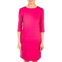 SUKIENKA LOVELY PINK QUIOSQUE. Czerwone sukienki dzianinowe marki QUIOSQUE, do pracy, biznesowe. W wyprzedaży za 49,99 zł.