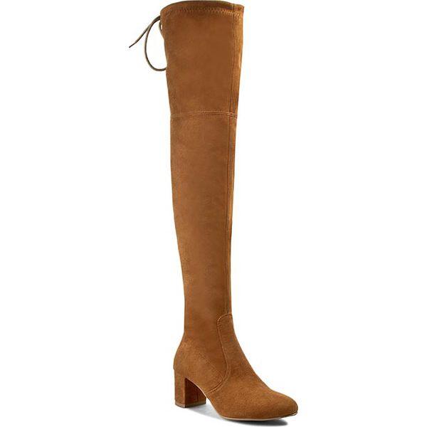 Muszkieterki R.POLAŃSKI - 0802  Rudy Zamsz. Brązowe buty zimowe damskie marki R.Polański, z materiału, na obcasie. W wyprzedaży za 299,00 zł.