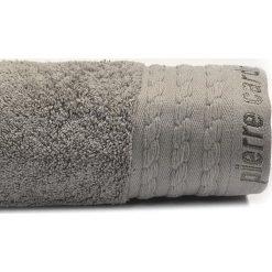 Kąpielówki męskie: Ręcznik w kolorze szarym