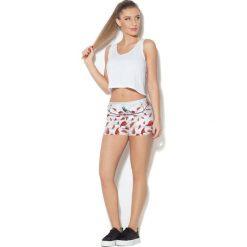 Spodnie damskie: Colour Pleasure Spodnie damskie CP-020 265 biało-czerwone r. XS-S