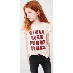 Bluzki dziewczęce bawełniane: Mango Kids - Top dziecięcy Dingo 110-164 cm