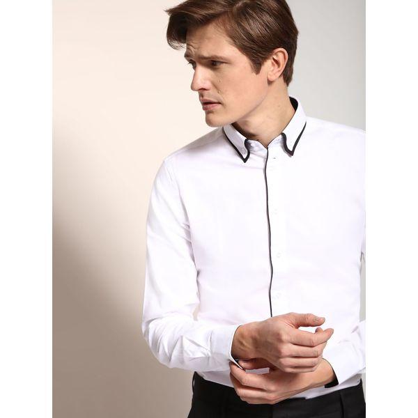 ff6c30d15 KOSZULA DŁUGI RĘKAW MĘSKA SLIM FIT - Białe koszule męskie Top Secret, na  zimę, m, z bawełny, z długim rękawem. Za 59,99 zł. - Koszule męskie -  Odzież męska ...