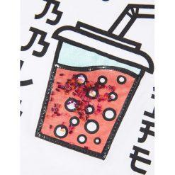 Mango Kids - Top dziecięcy Toys 110-164 cm. Różowe bluzki dziewczęce marki Mayoral, z bawełny, z okrągłym kołnierzem. W wyprzedaży za 29,90 zł.