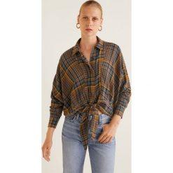 Mango - Koszula Nudito. Szare koszule damskie w kratkę marki Mango, l, z tkaniny, klasyczne, z klasycznym kołnierzykiem, z długim rękawem. Za 199,90 zł.