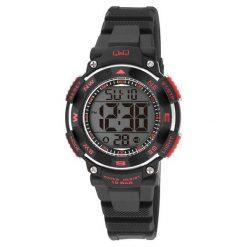 Zegarki damskie: Zegarek Q&Q Damski M149-001 Dual Time czarny