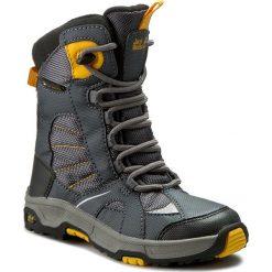 Buty zimowe chłopięce: Śniegowce JACK WOLFSKIN – Boys Snow Ride Texapore 4012042 Burly Yellow XT S