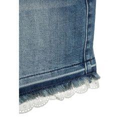 Abercrombie & Fitch MIDI INSERT Szorty jeansowe dark blue. Niebieskie spodenki chłopięce Abercrombie & Fitch, z bawełny. Za 149,00 zł.