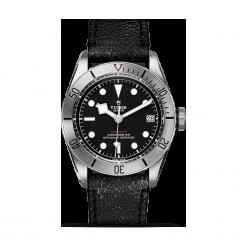 ZEGAREK TUDOR Black Bay steel 79730 CALF LEATHER BLACK IND W. Czarne zegarki męskie TUDOR, szklane. Za 14290,00 zł.