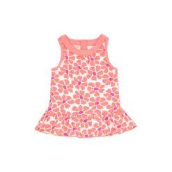 Anna & tom  Girls Sukienka Flamingo flower print. Różowe sukienki niemowlęce marki anna & tom, z bawełny, bez rękawów. Za 45,00 zł.