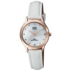 Zegarek Q&Q Damski  QZ05-101 Klasyczny Cyrkonie. Szare zegarki damskie Q&Q. Za 128,99 zł.