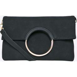 Answear - Torebka Garden of Dreams. Czarne torebki klasyczne damskie marki ANSWEAR, w paski, z materiału, średnie. W wyprzedaży za 79,90 zł.