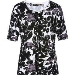 Sweter rozpinany bonprix biało-czarny. Białe kardigany damskie marki bonprix. Za 49,99 zł.