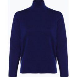 März - Damski sweter z wełny merino, niebieski. Brązowe swetry klasyczne damskie marki Alma en Pena, z materiału, na obcasie. Za 499,95 zł.