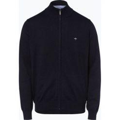 Swetry rozpinane męskie: Fynch Hatton – Kardigan męski, niebieski