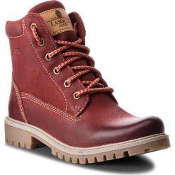 Trapery LASOCKI - WI20-ASPEN-02 Czerwony 2. Czerwone buty zimowe damskie Lasocki, z nubiku. W wyprzedaży za 100,00 zł.
