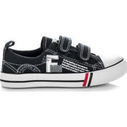 Buty dziecięce: Czarne trampki na rzep LOURDES