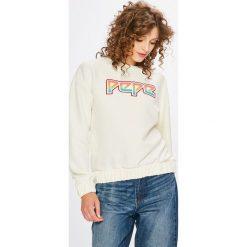 Pepe Jeans - Bluza Lisa. Szare bluzy z nadrukiem damskie Pepe Jeans, l, z elastanu, bez kaptura. W wyprzedaży za 239,90 zł.