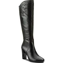 Kozaki KARINO - 2271/076-F Czarny/Lico. Czarne buty zimowe damskie marki Kazar, ze skóry, przed kolano, na wysokim obcasie, na obcasie. W wyprzedaży za 339,00 zł.