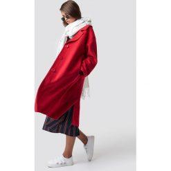 Hannalicious x NA-KD Płaszcz oversize z domieszką wełny - Red. Niebieskie płaszcze damskie wełniane marki Reserved. Za 404,95 zł.
