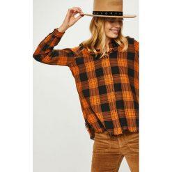 Answear - Koszula. Brązowe koszule damskie ANSWEAR, l, w kratkę, z bawełny, casualowe, z klasycznym kołnierzykiem, z długim rękawem. Za 119,90 zł.
