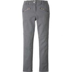 Spodnie Skinny z elementami w stylu biker bonprix dymny szary. Białe rurki dziewczęce marki bonprix, melanż, z wełny, z krótkim rękawem, krótkie. Za 37,99 zł.