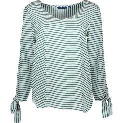 Bluzki asymetryczne: Koszulka w kolorze zielono-białym