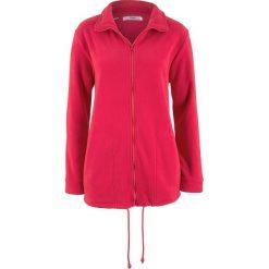 Bluza rozpinana z polaru, długi rękaw bonprix czerwony. Czerwone bluzy polarowe bonprix, z długim rękawem, długie. Za 79,99 zł.