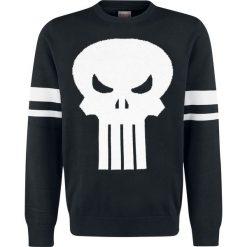 Swetry klasyczne męskie: The Punisher Logo Sweter czarny