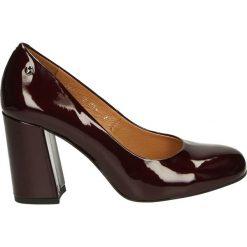 Czółenka - C044 VER BORD. Brązowe buty ślubne damskie Venezia, ze skóry. Za 199,00 zł.