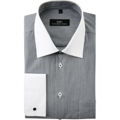Koszula VITTORE 15-01-15. Białe koszule męskie na spinki Giacomo Conti, m, w paski, z bawełny, z włoskim kołnierzykiem, z długim rękawem. Za 229,00 zł.