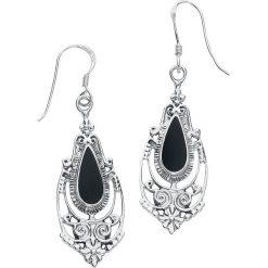 Kolczyki damskie: Black Romantic Kolczyki czarny/srebrny