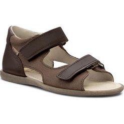 Sandały MRUGAŁA - Flo 1105-33 Brown. Brązowe sandały chłopięce Mrugała, ze skóry. Za 139,00 zł.