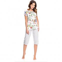 Piżama w kolorze biało-szarym ze wzorem - t-shirt, spodnie. Białe piżamy damskie Doctor Nap, s. W wyprzedaży za 72,95 zł.