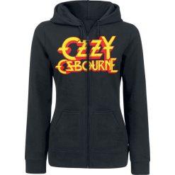 Ozzy Osbourne Crowned Skull Bluza z kapturem rozpinana damska czarny. Czarne bluzy rozpinane damskie Ozzy Osbourne, l, z nadrukiem, z kapturem. Za 184,90 zł.