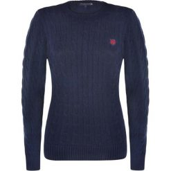 Sweter w kolorze granatowym. Niebieskie swetry klasyczne damskie marki Giorgio di Mare, xs, z dzianiny, z okrągłym kołnierzem. W wyprzedaży za 130,95 zł.