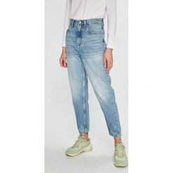 Tommy Jeans - Jeansy. Niebieskie jeansy damskie z wysokim stanem marki Tommy Jeans. Za 449,90 zł.