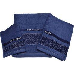 Kąpielówki męskie: 3-częściowy zestaw ręczników w kolorze granatowym