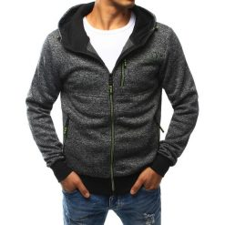 Bluzy męskie: Bluza męska rozpinana antracytowa (bx2448)
