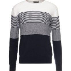 Swetry klasyczne męskie: Cortefiel CREW NECK MULTI STRIPE Sweter beige