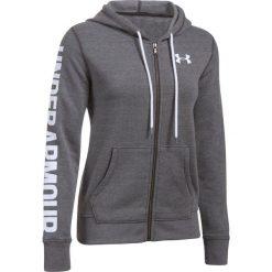 Bluzy sportowe damskie: Under Armour Bluza damska Favorite FZ Hoodie szara r.L (1302361-090)