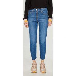 Tommy Jeans - Jeansy Lizzy. Niebieskie jeansy damskie marki Tommy Jeans, z aplikacjami, z bawełny, z podwyższonym stanem. Za 499,90 zł.