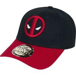 Deadpool Logo Czapka baseballowa czarny/czerwony. Czarne czapki z daszkiem damskie Deadpool, z aplikacjami. Za 79,90 zł.