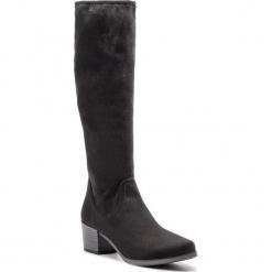 Kozaki CAPRICE - 9-25506-21 Black Stretch 044. Czarne buty zimowe damskie Caprice, z materiału, na obcasie. Za 249,90 zł.