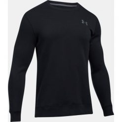 Bejsbolówki męskie: Under Armour Bluza męska Rival Fleece Solid Fitted Crew czarna r. XL (1302854-001)